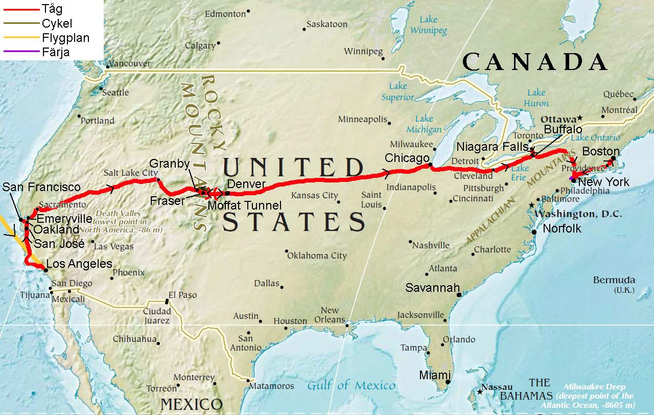 var ligger boston karta Nordamerika Ute på långresa   Del 31, en lite annorlunda  var ligger boston karta